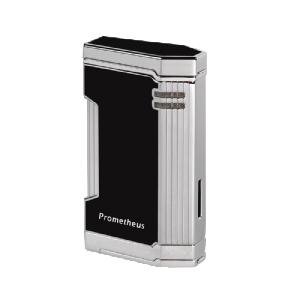 Prometheus Magma T21 Black Lacquer Torch Flame Triple Jet Cigar Lighters