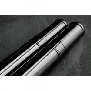 Prometheus Pocket Travel Cigar Tubes Gun Metal  H-Tube/TM